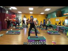 LEGS Day with Step and Cardio - YouTube