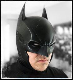 Cowl - Batman Arkham Hybrid Arkham Knight Hybrid Cowl by DarkKnightFX Batman Armor, Batman Suit, Batman Arkham Knight, Batman The Dark Knight, Batman Costumes, Batman Cosplay, Cosplay Armor, Batman Cowl, Vigilante