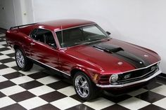1970 Ford Mustang Mach 1 Fastback Red, for sale in United States,
