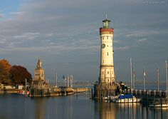 Lindau Lighthouse (Lindau, Germany) - first lit on October 4, 1856.  It is the southernmost lighthouse in Germany.
