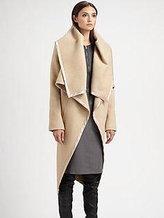 Maison Martin Margiela Front Ruffle Coat