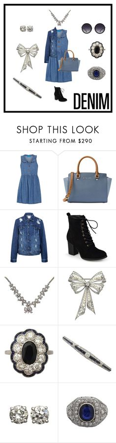 """""""Double Denim and Diamonds!"""" by ac-silver ❤ liked on Polyvore featuring M.i.h Jeans, MICHAEL Michael Kors, Edit, Journee Collection, Alice + Olivia and vintage"""