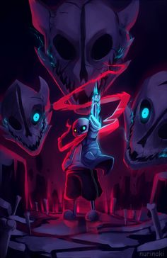 Sans Megalovania Undertale battle gorgeous art