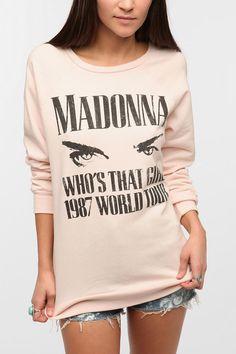 Madonna Music Sweatshirt  #UrbanOutfitters
