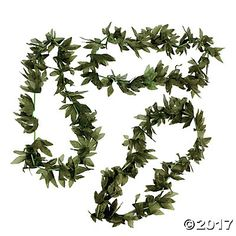 Tropical Fern Leaf Leis $8/dozen @orientaltradingcompany