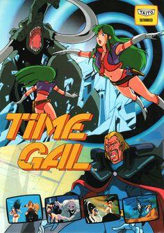 """(タイトー「タイムギャル」チラシ/TAITO """"Time Gal"""" Flyerから) #arcade #retrogames"""