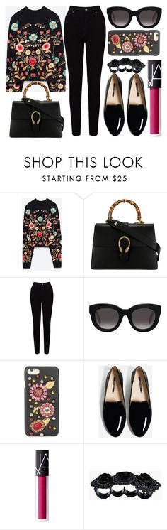 """street style"" by sisaez ❤ liked on Polyvore featuring Belgique, Gucci, EAST, Muse, Dolce&Gabbana, NARS Cosmetics and Dsquared2"