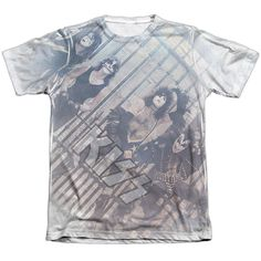 KISS/GATED COMMUNITY-ADULT POLY/COTTON S/S TEE-WHITE