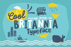 Cool Britannia - Typeface by Ian Barnard on @creativemarket