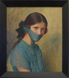 Markus Schinwald - Grita, 2010, oil on canvas, 51 x 42,5 cm.