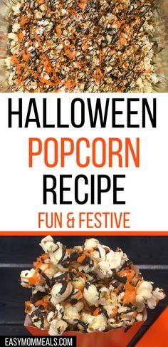Halloween Snacks For Kids, Halloween Popcorn, Halloween Baking, Halloween Appetizers, Easy Halloween Desserts, Halloween Movie Night, Halloween Dinner, Halloween Food For Party, Halloween Foods