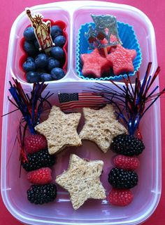 #bento - Fourth of July Stars lunchbox idea!