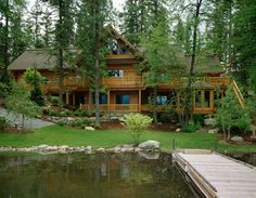 Exteriors Over 2500 Sq. Ft. : Montana Log Homes