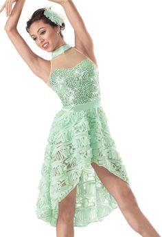 Weissman™ | Sequin Mock Neck Ruffle Skirt Dress