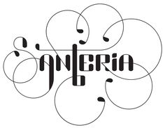 Santeria | Santeria is a mutable typeface I designed to look like lettering when it is typeset.