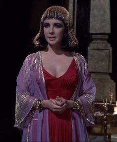 Cleopatra and Marc Anthony still have an argument! http://mariaefmilliner.com/cleopatra-a-review-of-the-35-dresses-she-wears-on-the-movie/