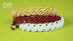 This Tutorial shows how to make an easy wavy macrame bracelets. For the most interesting appearance you can also add beads. Here you can see how this example...