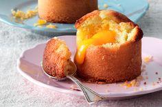 Mini cake allo zenzero con cuore morbido al mango