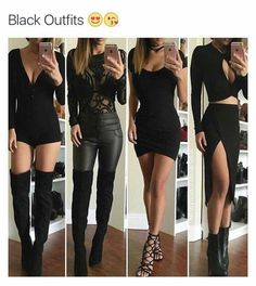 Cute outfits, going out outfits, sexy outfits, fall outfits, sexy dresses. Komplette Outfits, Cute Casual Outfits, Fall Outfits, Summer Outfits, Fashion Outfits, Black Outfits, Fashion Night, Party Fashion, Teen Fashion