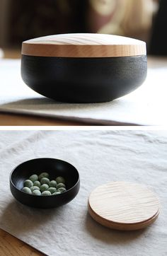 Small Chestnut Lidded Box   by Kenichi & Minkao Fujii