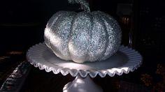 Silver glitter pumpkin