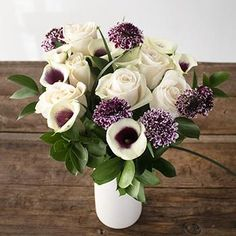 Lock and Key White Rose Bouquet - 2 Flower Bouquets