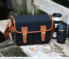 Amazon.com : Ghope Black Waterproof Vintage Canvas Camera Bag Messenger Bag for DSLR Camera and Lens Canon 5DII 7D Nikon D90 : Camera Cases : Camera & Photo