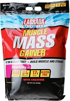Labrada Nutrition Muscle Mass Gainer Strawberry 12 Pound -- See this great product.