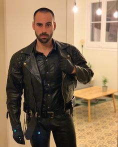 Sexy Men, Sexy Guys, Hot Men, Goatee Beard, Urban Male, Tight Leather Pants, Leather Men, Leather Jackets, Special Girl
