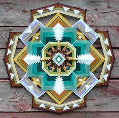 Dancing for God a 32 inch 12sided Ojo de Dios by JaysMandalas, $350.00, is a new, and bold sesign for me