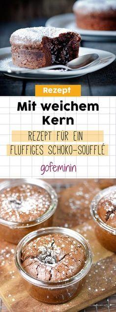 Mit weichem Kern: Rezept für ein fluffiges Schoko-Soufflé