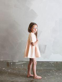 {007} Blush Clay handmade children's dress. Perfect kids dress for summer fashion.