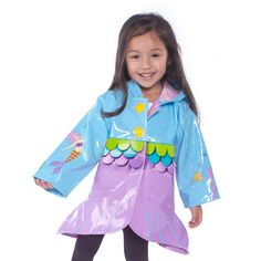 A girl with a Kidorable Mermaid Coat is a captivating performer, full of beauty and grace.