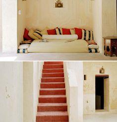 Love this super fresh (& easy) #design Baytil-Ajaib-Lounge-and-Stairs-Lamu-Kenya-Interior-Design  http://www.afri-love.com/