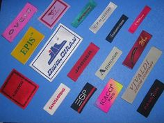 350 Custom Woven Labels,Sew In Clothing Labels.Quality Damask Weave,Artwork,Express Shipping
