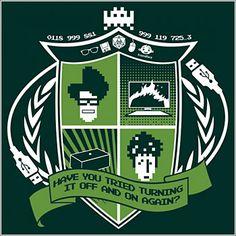 emblema heraldico de IT Crowd #GEEK