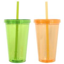 PRIMARY TEACHER GIFTS?  Bulk Double-Wall Plastic Tumblers with Straws, 16 oz. at DollarTree.com