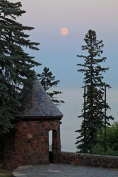 Once in a Blue Moon by John Heino on Capture Minnesota // A mystical night at Duluth's Leif Erickson Park.