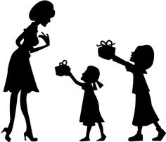 Mothers Day Decor, Mothers Day Crafts, Mothers Love, Mother Daughter Art, Mother Art, Couple Silhouette, Silhouette Clip Art, Mothers Day Drawings, Baby Love Quotes