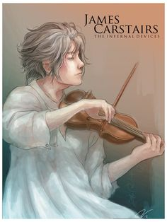 More Cassandra Clare fan art...this has been up on my blawg for an age or so. James Carstairs playing his violin, from her Infernal Devices series. I should do more Infernal Devices fan art, to be ...