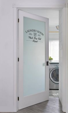 Dream laundry room ideas makeup make up stations tags small doors closet decorating meaning synonym Laundry Room Doors, Small Laundry Rooms, Laundry Room Organization, Laundry Room Design, Laundry Storage, Laundry Closet, Country Laundry Rooms, Organizing, Frosted Glass Door