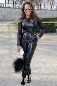 Marjorie Harvey rocks a black jumpsuit. | essence.com