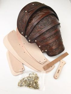 We have one of the most comprehensive ranges of Leather Armour in the world, with period costumes, LARP and SCA armour all in stock at Black Raven Armoury. Larp Armor, Cosplay Armor, Cosplay Diy, Leather Carving, Leather Tooling, Diy Leather Armor, Foam Armor, Armor Clothing, Armadura Medieval