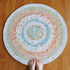 Happy Day Crochet Rug | I crocheted this rug with yarn I han… | Flickr