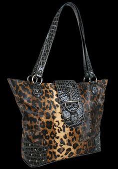 Western Safari Tote | Leopard Handbag | Leopard Print Tote | Leopard | AJ's Western Wear