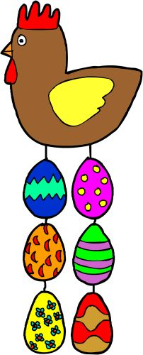 Móvil de huevos de pascua