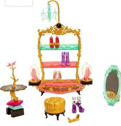 Ever After High Bookend Hangout Glass Slipper Shop Playset NEW In Hand