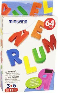 Caja de 64 letras mayúsculas magnéticas