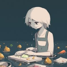 108 Powerful Illustrations By Japanese Artist That Will Make You Think - Illustration - Art And Illustration, Dark Art Illustrations, Art Anime, Anime Kunst, Art Triste, Drawing Feelings, Sun Projects, Arte Obscura, Art Asiatique