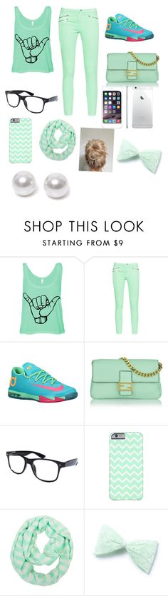 """""""FINISH MY WORK!!!!"""" by mynameisyaya ❤ liked on Polyvore featuring French Connection, NIKE, Fendi, Retrò, Nouv-Elle, women's clothing, women, female, woman and misses"""